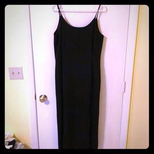 Jaeger Black Wool Maxi Dress